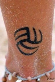 Cool volleyball tattoo. Very simple