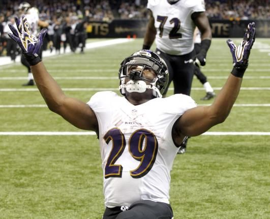 Justin Forsett propels Baltimore Ravens to a victory over the Saints - UPI.comBaltimore Ravens running back Justin Forsett (29) celebrates a 13 yard touchdown run against the New Orleans Saints during the second quarter at the Mercedes-Benz Superdome in New Orleans November 24, 2014. UPI/A.J. Sisco