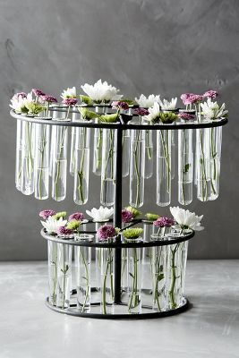 For the science nerd couple, table centerpieces. Anthropologie Laboratory Vase #anthrofave