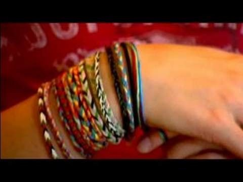 Crafting Ideas for Kids : How to Make a Chinese Staircase Bracelet