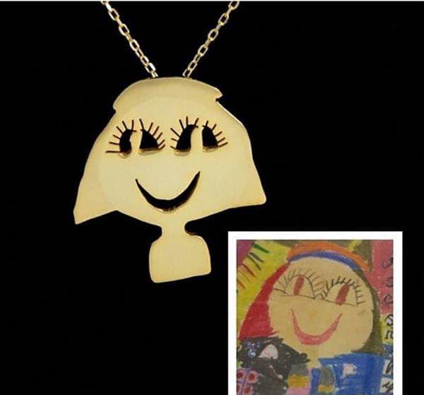 turn kids' art into jewelry