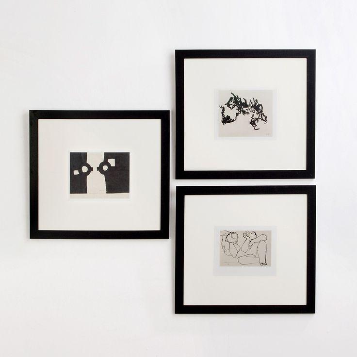 Reproducciones en lámina de Chillida enmarcadas en color negro