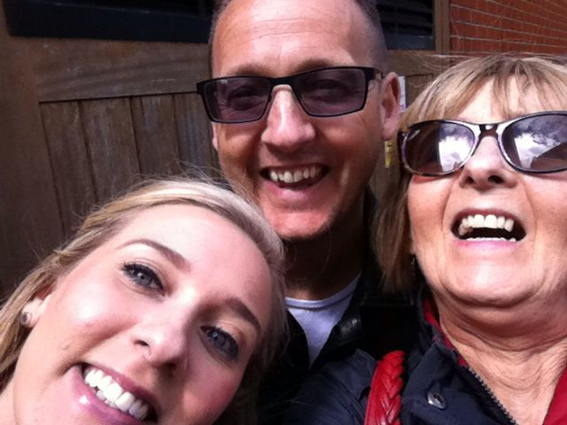 Silly selfie in Leeds for Robyn's abseil June 2014