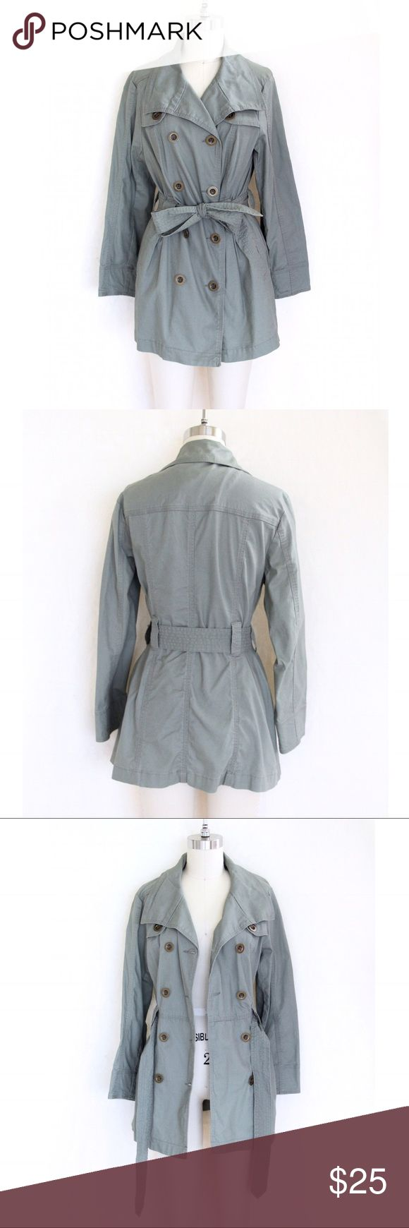 Light Olive Green Trench Coat This lightweight trench coat is perfect for spring! Incredibly comfortable and chic! And it's in excellent condition! Style & Co Jackets & Coats Trench Coats