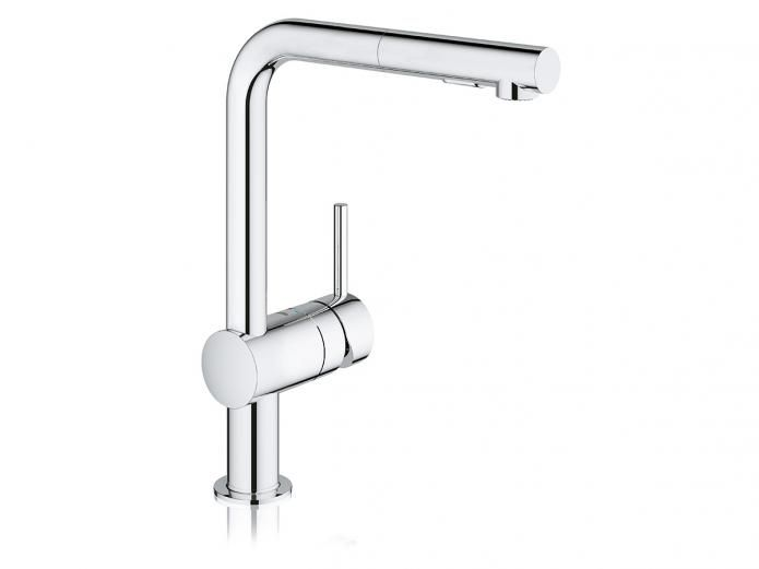 Grohe Minta Sink Mixer with Pull Out Aerator Chrome