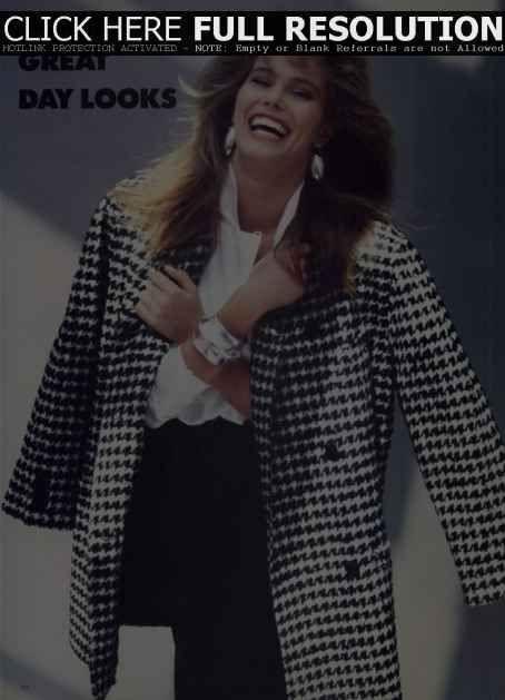 Renée Simonsen - Vogue Magazine Pictorial [United Kingdom] (October 1986)
