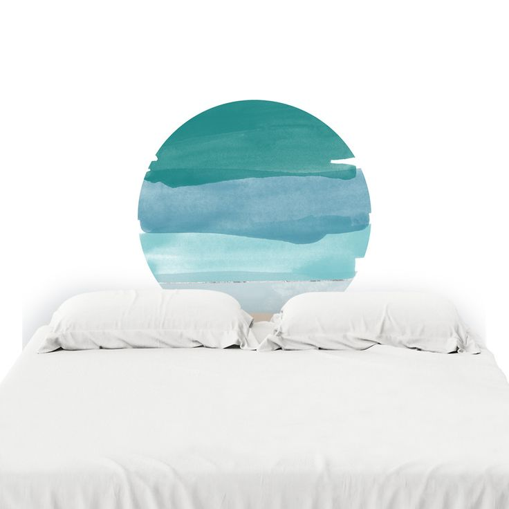 Ocean Blues Headboard Decal