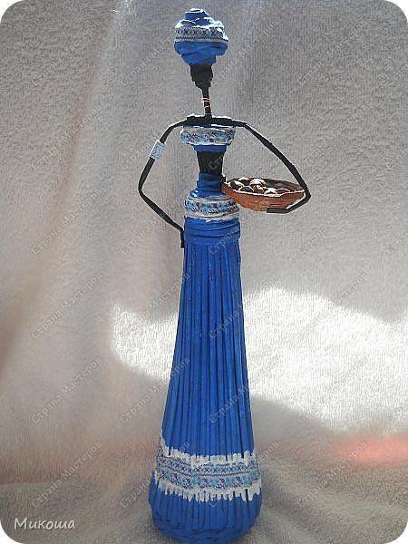 Поделка изделие Плетение Африканочки мои  +мой вариант юбки  Трубочки бумажные фото 2