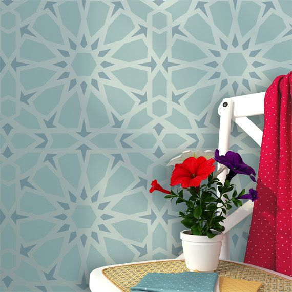 Zelij Moroccan Wall Stencils Reusable Template for DIY Decor Wall Interiors