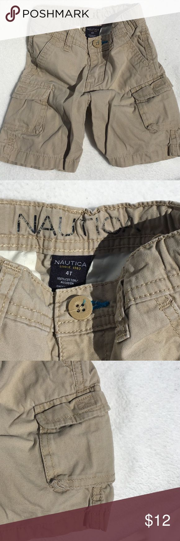 Nautica - Khaki Boys Cargo Shorts Nautica - Khaki Boys Cargo Shorts. Gently Used Nautica Bottoms Shorts
