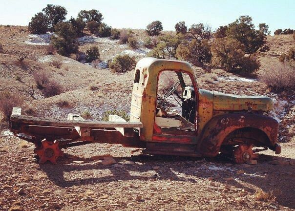 Old International Truck in the San Rafael Swell  November 17, 2009
