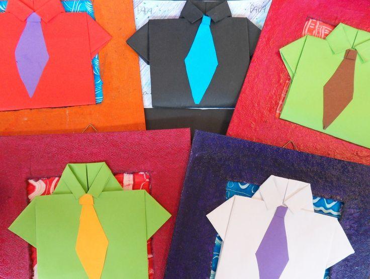 Origami overhemd