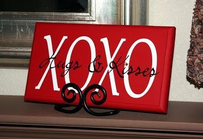 xoxo...diy sign perfect for valentines day!!!