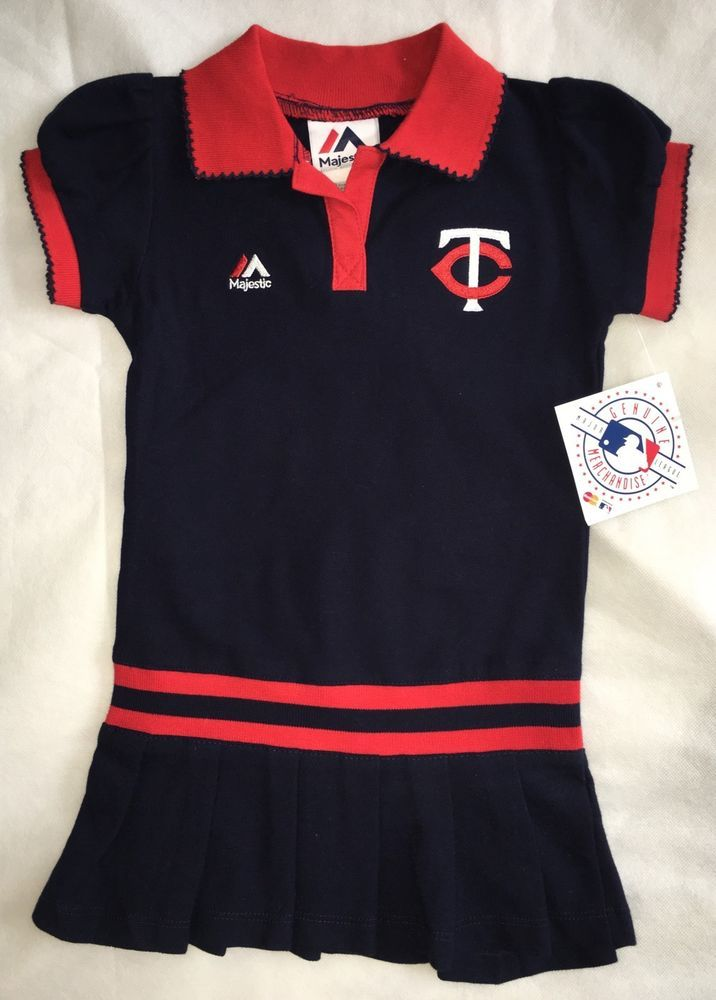 Girls Minnesota Twins MN Baby Toddler Baseball Dress Top Red Navy Blue 3T 3 NEW  | eBay