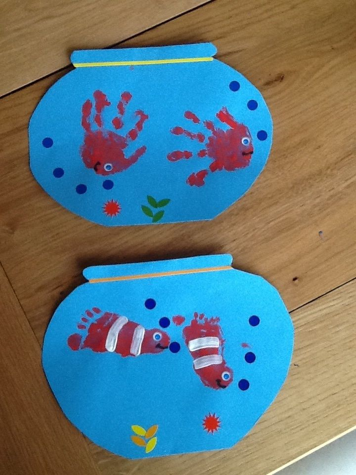 empreintes mains Poissons d'Avril 14