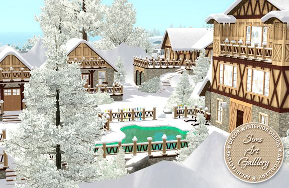 Mountain resort http://www.sims-artgallery.net/en/gallery/sims-3/lots/community-lots/c-large/1417/