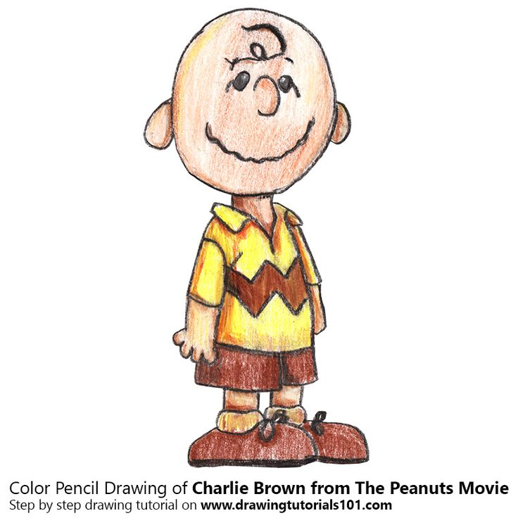 Charlie Brown from The Peanuts Movie with Color Pencils