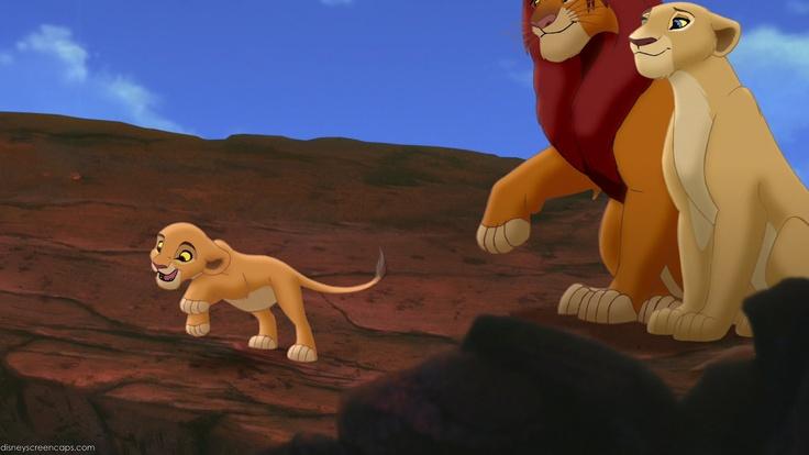 simba  u0026 nala with their daughter kiara in  u0026quot the lion king 2