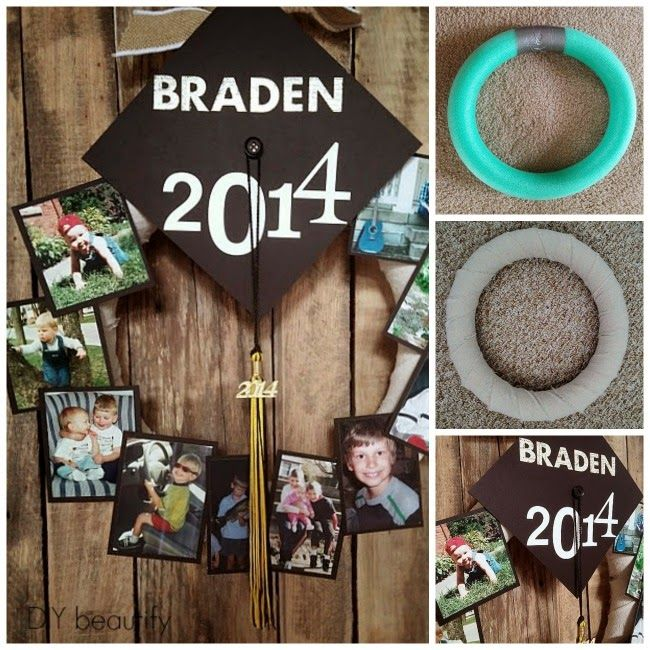 Follow these tutorials to make a graduation memory wreath as well as a large custom canvas of your grad! Additional graduation project links are included!