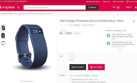 BEWARE: Snapdeal selling Fitbit wearables for a heavy discount, but they are fake