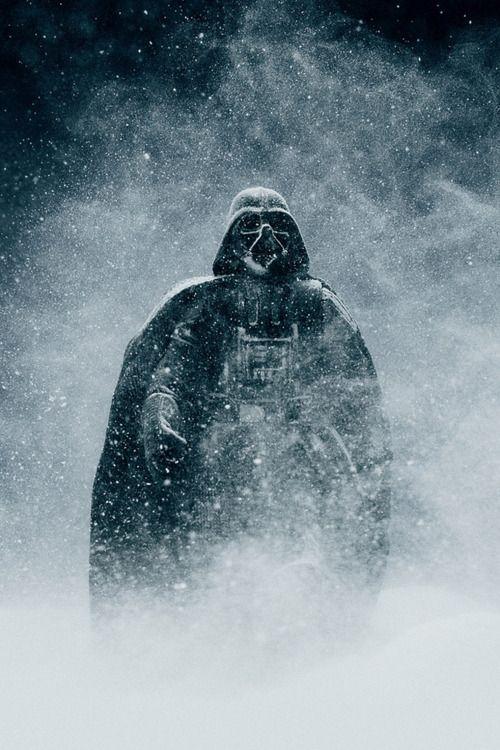 Darth Vader in snow