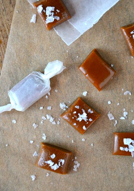 Homemade salted caramels. Judging by the color, they look really good.