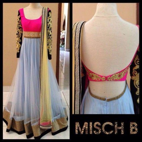 White Wedding Bollywood Designer Anarkali Suit Traditional Indian Salwar Kameez | eBay