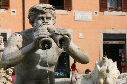 Piazza Navona à Rome - Fontaine des quatre fleuves