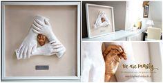 Familien 3D Abdrücke, sehr detailiert, schönes Andenken von allen Familienmitgliedern