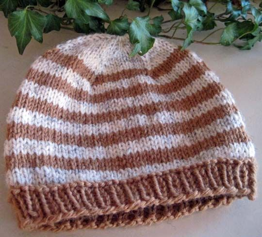 Hat Knitting Pattern Not In The Round : KNIT HAT KNIT Pinterest