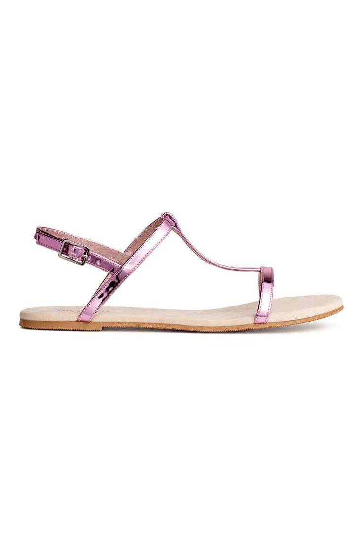 Sandały - Różowy metalik - ONA | H&M PL 1