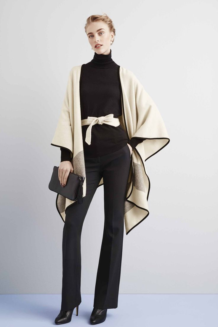 Ready for anywhere -- no matter how you wear it. Here's one of three ways to style fall's loveliest layer: Ann Taylor's Belted Cape.