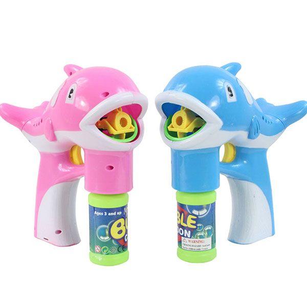 Dolphin bubble maker led caja de música ligera de la lámpara regalos de cumpleaños juguetes para niños kids
