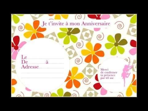 carte invitation anniversaire fille 5