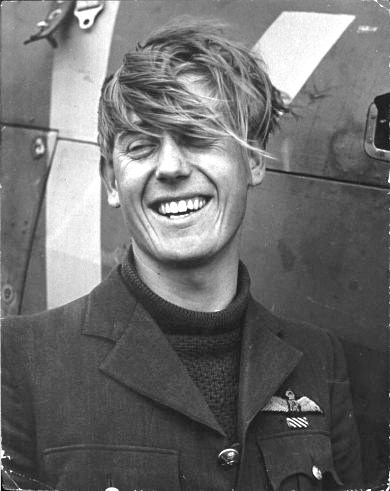 Spirits are high, in spite of great stress - Flying Officer Albert Gerald Lewis DFC, a top ace of the RAF. The South African, aged 22, shot down at least 28 Luftwaffe fighters, including on one memorial day, six in a six hour span -    Battle of Britain - 1940