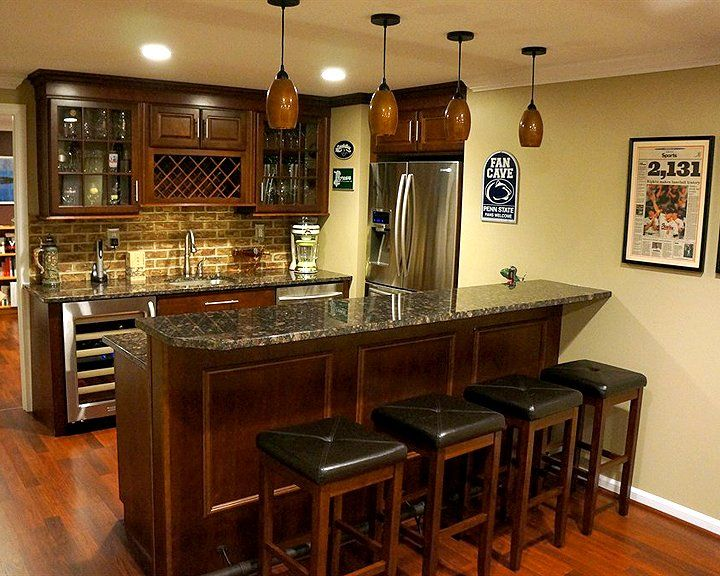 Best 20 basement bars ideas on pinterest for Basement kitchenette with bar