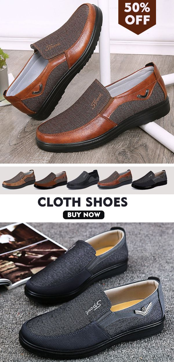 Men Large Size Old Beijing Style Casual Cloth Shoes in 2018  4bf99474dbd00