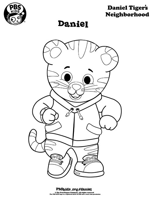 It is a photo of Impeccable Daniel Tiger's Neighborhood Coloring Pages
