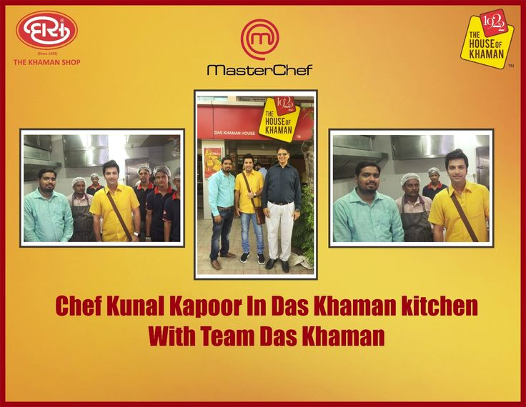 Delighted to have Master Chef Kunal Kapoor with the Das Team at Das Khaman kitchen. Exchanged ideas & tips to serve even better. A hearty thanks to Kunal Kapoor for sharing his time with Das Team. #Chef #Kunalkapoor #Daskhaman #Recipes.