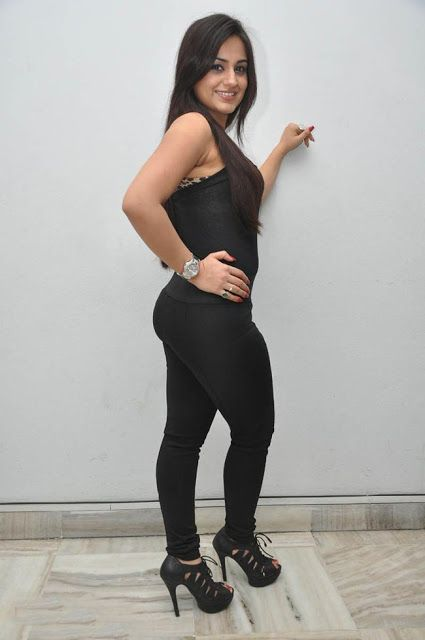 Aksha Latest Hot Photo Gallery In Black Skinny Jeans Hot
