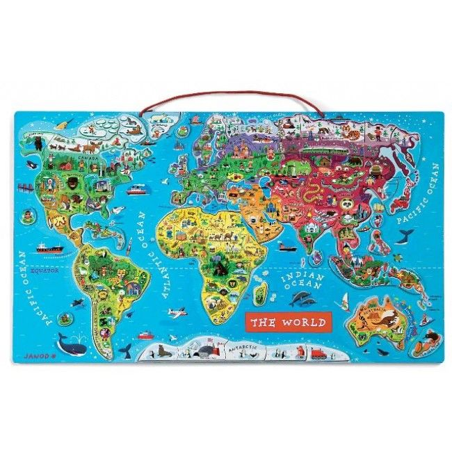 Best 25 world map puzzle ideas on pinterest come fly with me janod world map puzzle gumiabroncs Images