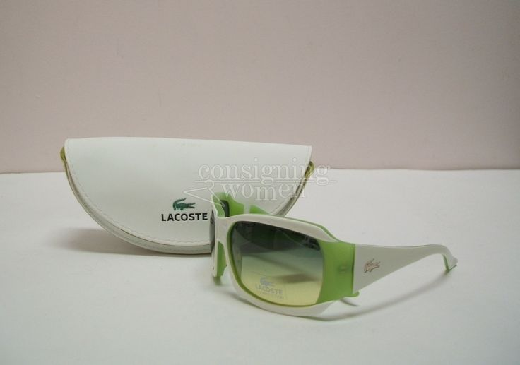 Lacoste lime green & white sunglasses. New. #Lacoste #online