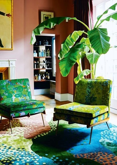 """Pantone's colour forecaster reveals the colours you'll be using in 2018: Verdure Showcasing natural, vegetal colours including Foliage (not to be confused with Greenery) and Celery, plus berry-esque purples and blues, this palette is a layover of Greenery, the 2017 Colour of the Year but with a twist. """"This palette is so symbolic of health,"""" said Eiseman, noting the importance of wellbeing for more than just our physical selves. Photographed by Kate Martin"""
