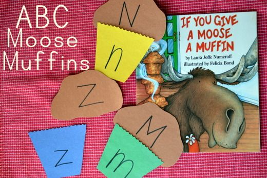 Book Activity: If You Give a Moose a Muffin with a moose muffin matching game (plus, my favorite moose muffin recipe!)