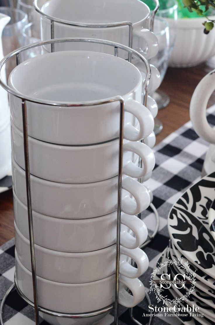 StoneGable: WINTER SOUP BUFFET- stacking mugs
