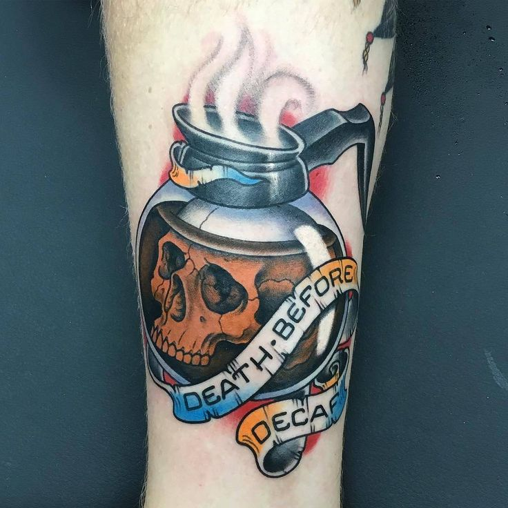 "14.3k Likes, 132 Comments - TattooSnob (@tattoosnob) on Instagram: ""Death Before Decaf by @jordancmoore_ir at Inksmith And Rogers Tattoo in Jacksonville, Florida.…"""