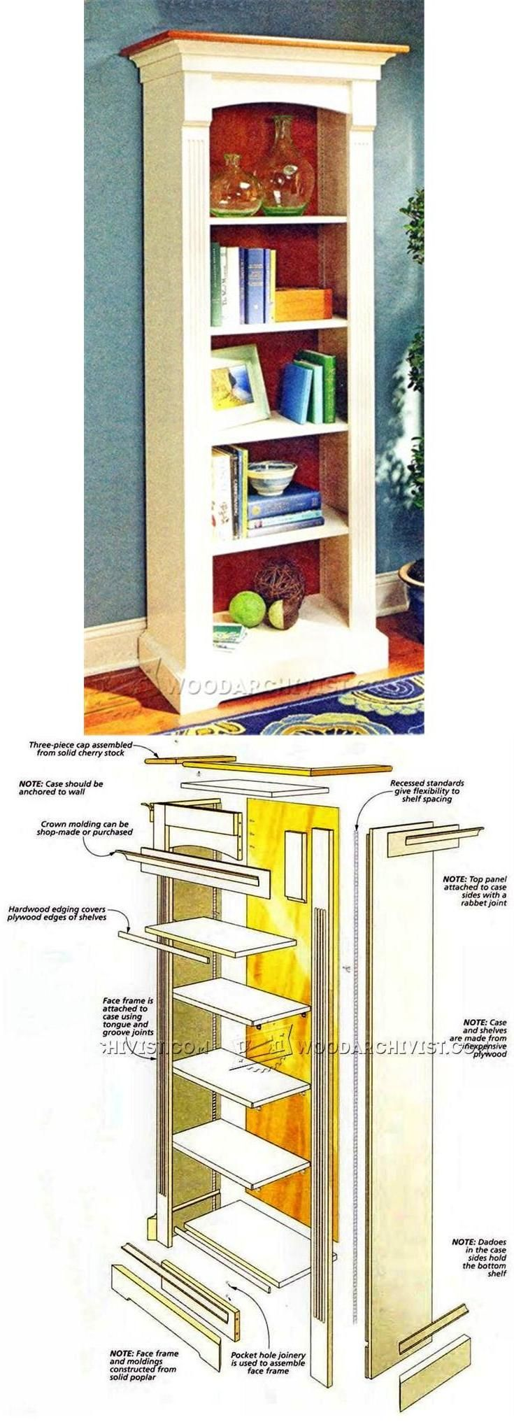 Tower Bookcase Plans - Furniture Plans and Projects | WoodArchivist.com
