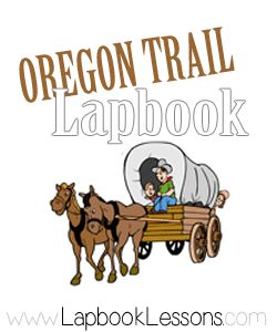 Studying the Oregon Trail this year?  Free 25 page lapbook from Lapbook Lessons