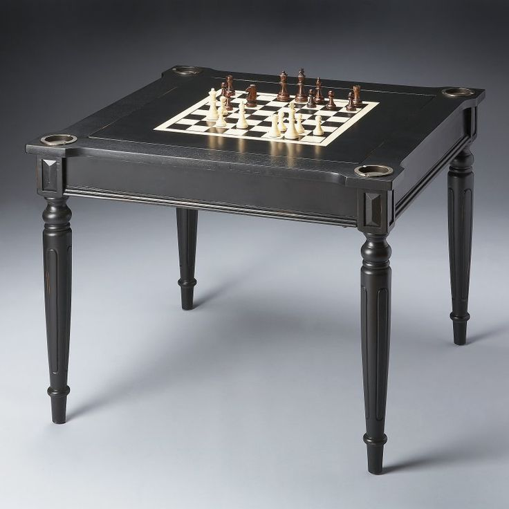 Butler Masterpiece Collection Wood Multi-Game Card Table with Black Licorice Finish - 0837111