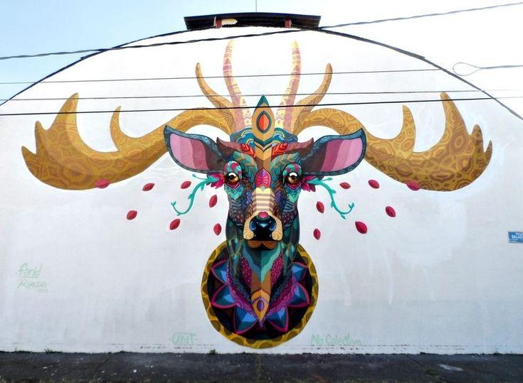 Los murales que hizo Farid Rueda en Uruapan y en Bogota